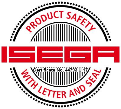 Logo Isega certificate-44793 U 17 - Evolis