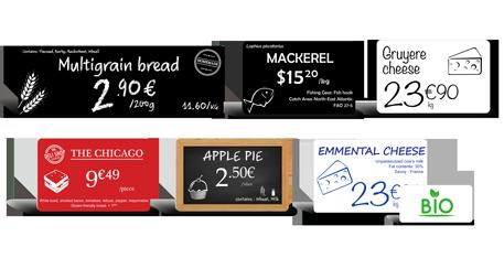 Edikio Flex - Price tags examples