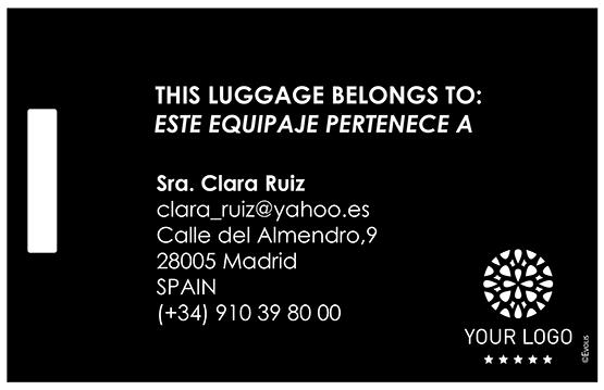 Tarjeta para equipaje