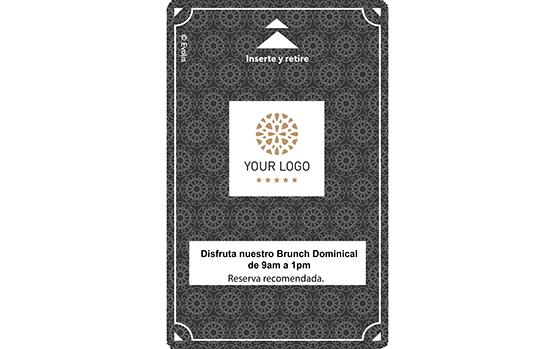 Tarjeta de acceso a las habitaciones